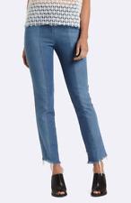 MVN Day & Night, Mid-Rise Straight Cut Jeans with Frayed Raw Hem/AU Size 10 BNWT