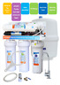 5 stages undersink RO reverse osmosis water filter system with Pump & SS Faucet