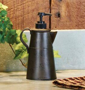 Park Designs Tin Coffee Pot Soap Lotion Dispenser Pump
