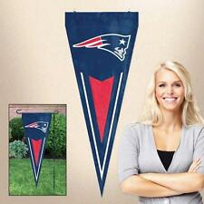 """New England Patriots 34"""" x 14"""" Pennant Applique & Embroidered 100% Nylon."""