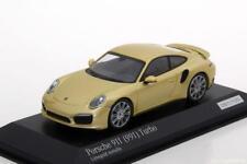 1:43 MINICHAMPS 2013 PORSCHE 911 (991) Turbo gold LE 100 pcs. cartima Exclusive