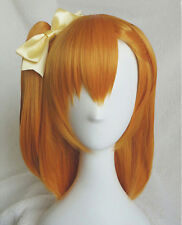 LoveLive! Love Live Kousaka Honoka Orange Ponytail Cosplay Wig + Bow Hairpin