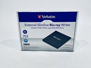 Verbatim USB External Drive Slimline Blu-ray Reader/Writer - 70102