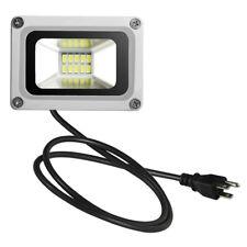 10W LED Flood Light US PLug Outdoor Spot Lighting Lamp Cool White Floodlight110V