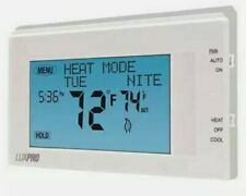 Lux P721ut Programmable / Non-Programmable Thermostat , 2 H 1 C, Wall Mount,