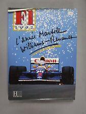 F069 LIVRE L'ANNEE MANSELL WILLIAMS RENAULT F1 1992 EDITIONS HACHETTE FORMULE 1