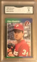 1989 Donruss Alex Madrid #604 RC Graded GMA Mint 9 (3 Graded Card Lot)