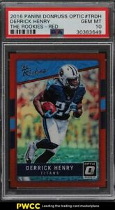 2016 Donruss Optic the Rookies Red Derrick Henry ROOKIE RC /99 PSA 10 GEM MINT