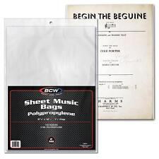 1 Case of 1000 BCW Sheet Music Bags with flap Holder Storage Protection