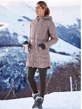 Athleta Chill Down Jacket M Medium Foxtail Taupe Coat Winter Worn1x T22