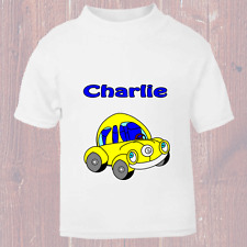 Personalised Funny VW Beetle Car Named T Shirt for kids Named Child Tee Gift