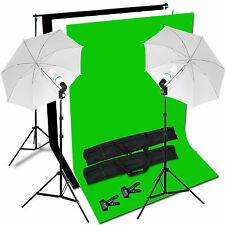 New Photo Studio Umbrella Light Background Backdrop Stand Continous Lighting Kit