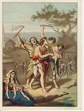 CHROMO LE GRAND'MORT DE 1348  - TEXTE AU DOS