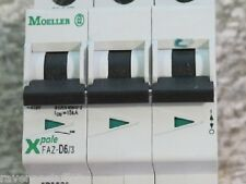 MOELLER XPOLE FAZ-D6/3 CIRCUIT BREAKERS, 5kA, 3-POLE,480Y/277 VAC (NEW NO BOX)