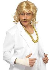Mens Blonde Game Show Host Wig & Tash Keith Lemon Comedy Funny Fancy Dress Kit