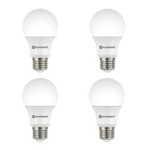 EcoSmart 40-Watt Equivalent A19 Dimmable Energy Star LED Light Bulb Bright