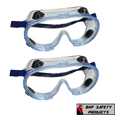 Safety Goggles Over Glasses Lab Work Eye Protective Eyewear Clear Lens 2pair