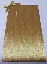 5M 6mm Thin Gold Satin Ribbon Trim Card Making Scrapbooking Home Decor Craft