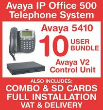 Avaya IP Office 500 Phone System (New with Refurb handsets) - 10 user - Inc VAT