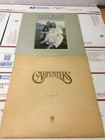 Lot of 2 THE CARPENTERS 1970 1971 LP Close to You SP-4271 & SP-3502 A&M Records