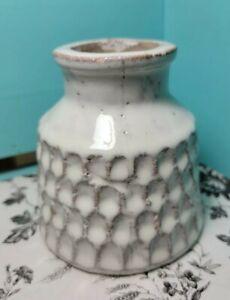 Mid Century Vintage Heavy Drip Glaze Studio Art Pottery  Weed Pot Vase