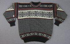 Vintage Nordstrikk 100% Wool Nordic Sweater Small made in Norway