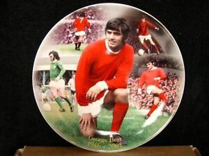 "8"" GEORGE BEST PLATE SIMPLY THE BEST MANCHESTER UNITED CLASSIC POSE NEW"