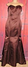 BELSOIE WOMEN'S GORGEOUS BROWN DRESS TIE BOW SIZE 10