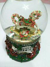 San Francisco Music Box Snow Globe Rocking Musical Song Christmas Horse