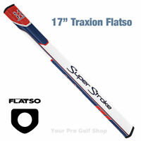 """Super Stroke Traxion Flatso 17"""" Red/White/Blue Putter Grip - S73642"""