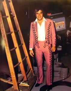 RAY PILLOW country 1980s color photo Grand Ole Opry pink suit I'll Take the Dog