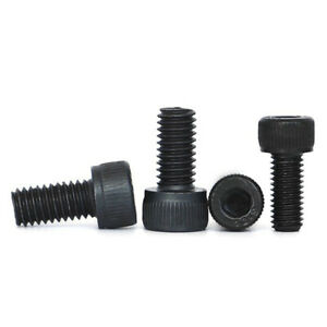 M1.4 M1.6 M2 M2.5 M2.6 Black Alloy Steel Hex Socket Cap Head Screw Bolts DIN912
