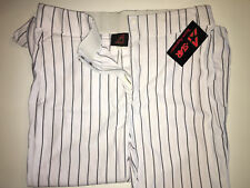 All Star Men's Adult Pinstripe Baseball Pant XL, White/Navy NWT