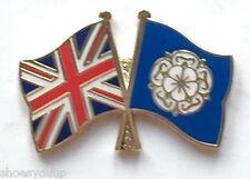 Yorkshire Rose & Großbritannien Flaggen Freundschaft