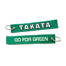 Jdm Racing Green Takata Go For Green Keychain Key Chain Drift Car