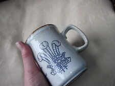 COLLECTABLE DUNOON CERAMICS SCOTTISH POTTERY GREY MUG CHARLES DIANA 1981 + LABEL