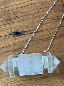 Krystle Knight Clear Quartz Necklace Sterling Silver Crystal Krystal Large