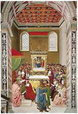Postcard Pinturicchio Piccolomini Receives the Cardinal's Hat Duomo Siena Italy