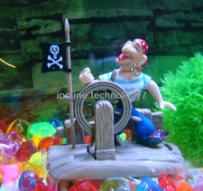 Jolly roger Pirate skipper Action Air Ornament Fish Tank Aquarium Decor
