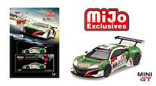 HONDA NSX GT3 24 HOUR SPA CASTROL OIL GREEN/WHITE MIJO 1/64 MINI GT TSM MGT00051