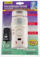 Strobe Motion Detector Alarm Door Chime Sensor System with Remote