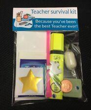 Teacher Survival Kit gift set funny novelty keepsake thank you present nursery