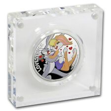2019 PM $1 1oz Coloured Looney Tunes Lovestruck Silver Proof Coin D2-3312