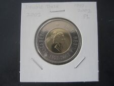 Canada  2$ (Twoonie) 2002 (double date 1952-2002) Proof Like coin