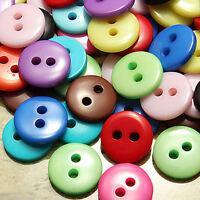 Wholesale 10-100Pcs Plastic Buttons Scrapbooking Sewing Craft Making Appliques