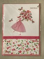 Papyrus Greeting Card Mother's Day New in packaging - Pink Dress Flowers Special