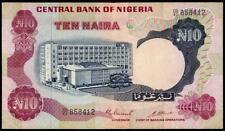 NIGERIA 10 NAIRA  1973-78 VF++  P#17c  SIGN.3  RARE  BANKNOTE SEE PHOTOS!