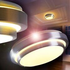 Lampada LED cromo Plafoniera bagno design moderna circolare cucina nuova 140688
