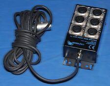 Leader Light LL LED Point RGB Splitter 6xIN 6 Pin XLR Splitter