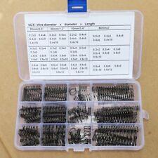 136 Pcs Wire dia 0.2 - 0.6mm OD 2-12, 68 Value Steel Compression Springs Kit PKG